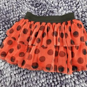 Disney Red with Black Polka Dots Tiered Skirt 4T